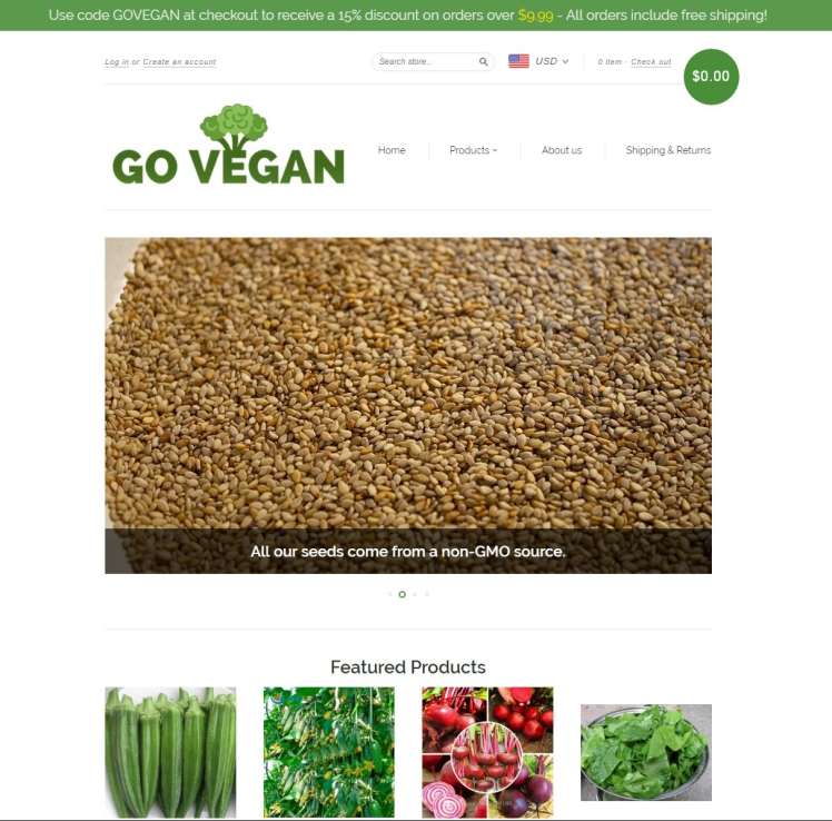 goveganwebsitescreenshot